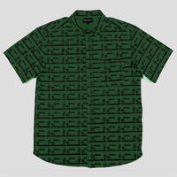 """PASS~PORT """"POOL"""" S/S SHIRT FOREST GREEN"""