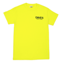 Dave's New York Short Sleeve Work Logo T-Shirt – Safety Green