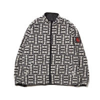 HELLRAZOR Logo Reversible Fleece Nylon Jacket - Black