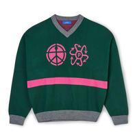 RASSVET Vneck Sweater - Green