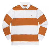 MAGENTA LS POLO RUGBY - WHITE / ORANGE