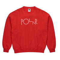 POLAR SKATE CO. SCRIPT CREWNECK Red