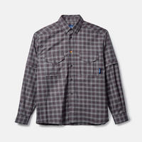 RASSVET Shirts W/Zip Off Sleeve Grey