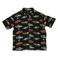BRONZE56K WRECKED CARS BUTTON UP BLACK