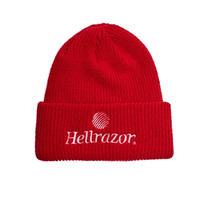 Hellrazor Trademark Logo Watch Cap - Red