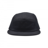 POP TRADING POP LOGO 5 PANEL HAT BLACK