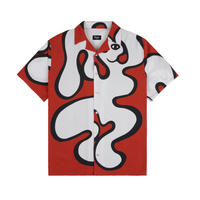 DIME CHILLING RAYON SHIRT RED