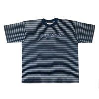 YARDSALE Mobb Knitted Script T-shirt Navy/White