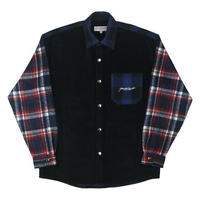 YARDSALE Patchwork Shirt Black / Navy
