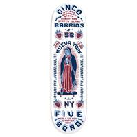 """5BORO NYC CINCO BARRIOS WHITE  8"""""""