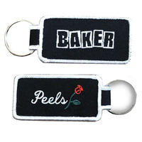 PEELS Baker / Peels Embroidered Patch Key Chain