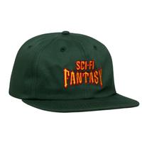 SCI-FI FANTASY Biker Hat Green / Red / Gold