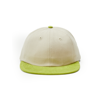 POP TRADING SIXPANEL HAT OFF WHITE/GREEN APPLE