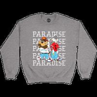 PARADISE KRISS KROSS CREWNECK SWEATSHIRT GRAY