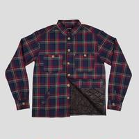 PASSPORT LATE QUILTED FLANNEL JACKET NAVY
