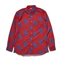 Hellrazor Paisley Dress Shirts - Red