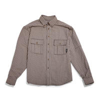 RASSVET BEIGE CHECKS  SHIRT