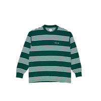 POLAR SKATE CO. STRIPED LONGSLEEVE DARK GREEN