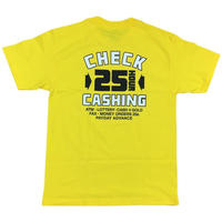 QUARTER SNACKS CHECK CASHING TEE YELLOW