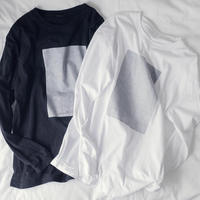 Long sleeve T-shirt (white & silver)