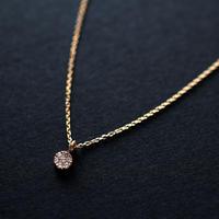 《プティ・パヴェ》K10イエローゴールド・ダイアモンド・ネックレス