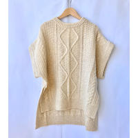 cable knit gilet