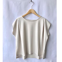 tuck shoulder ponte tee-shirt