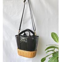 pvc × rattan bag
