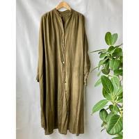 cotton silk shirt one-piece