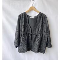 cut work lace cardigan