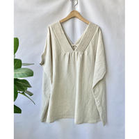 linen  rayon tunic blouse
