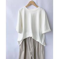 moss stitch cotton tee shirt