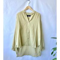linen cotton lawn gather blouse