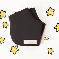 かかとソックス( 黒/ステッチ4色)