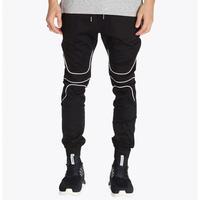 ZANEROBE WHITELINE BLACK JOGGER PANTS (ゼインローブ ホワイトラインブラックジョガーパンツ)