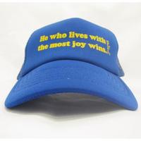 MBW apparel HE WHO LIVES CAP BLUE (エムビーダブリューアパレル ヒ―フーリーブス キャップ ブルー)