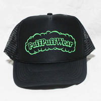 Puff Puff MESH CAP (BLACK/LIGHT GREEN)