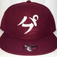 【3D刺繍】パフ SNAPBACK CAP(BURGUNDY/WHITE)