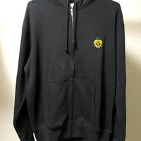 【和歌山産】蜜柑ドクロ ZIP HOOD PARKA (BLACK)