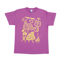 【DOKIDOKIDOKKN a.k.a NANA RABIRABI】脳ミソパフパフキラキラTシャツ (LAVENDER)