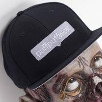 【刺繍塗りつぶし】タグ付けアイコン SNAPBACK CAP (BLACK)