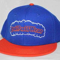 【刺繍】Puff Puff SNAPBACK CAP (ROYAL BLUE/ORANGE)