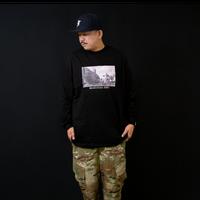 【KISHIWADA CITY】LEPEZEN PHOTO Long Sleeve T-Shirt(BLACK/岸和田駅)