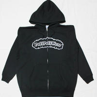 【裏起毛】Puff Puff  ZIP HOOD PARKA (BLACK/WHITE)