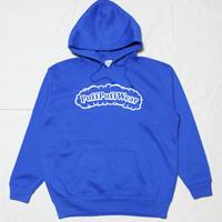 【裏起毛】Puff Puff  HOOD PARKA (BLUE/WHITE)