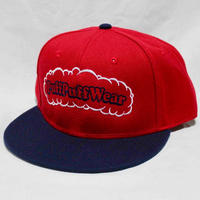 【刺繍】Puff Puff SNAPBACK CAP (RED/NAVY)
