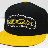 【刺繍】Puff Puff SNAPBACK CAP (BLACK/YELLOW)