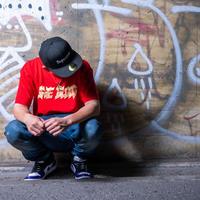 【ONE BLOOD】Reggae dancehall lettering TEE(RED)