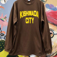 【KISHIWADA CITY】KISHIWADA CITY REP  LONG SLEEVE TEE(BROWN)