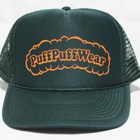 Puff Puff MESH CAP (DARK GREEN/ORANGE)